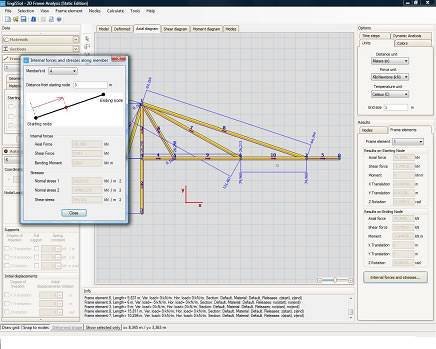 2D Frame Analysis Static Edition - Static Frame Analysis Software