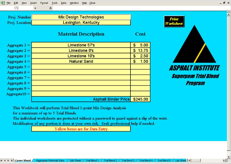 Ai Sw 2 Mix Design Superpave And Marshall Mix Design Procedures Software