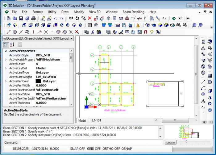BDSolution - Create Detailed Drawings of RC Beam Software