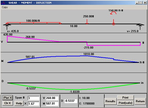 Beam Pro - Continuous beam analysis program Software
