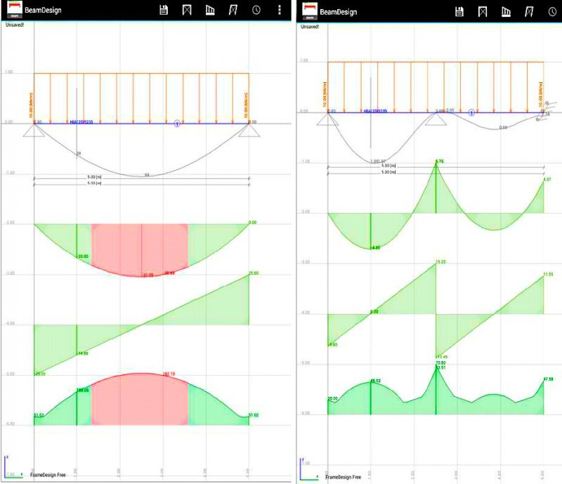 BeamDesign - Design Continuous Beams App for Android