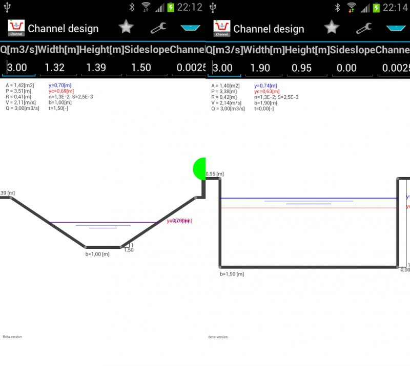 ChannelDesign - Design Open Channel Flow For Rectangular and