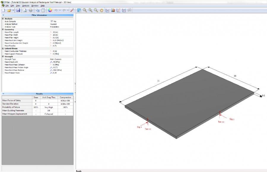 CPillar - 3D Crown Pillar Stability Analysis Software
