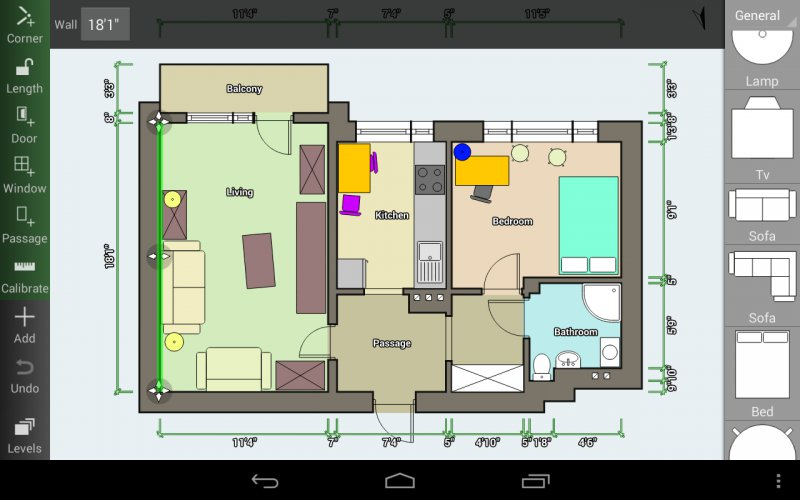 Floor plan creator app for android create detailed and for Floor plan generator
