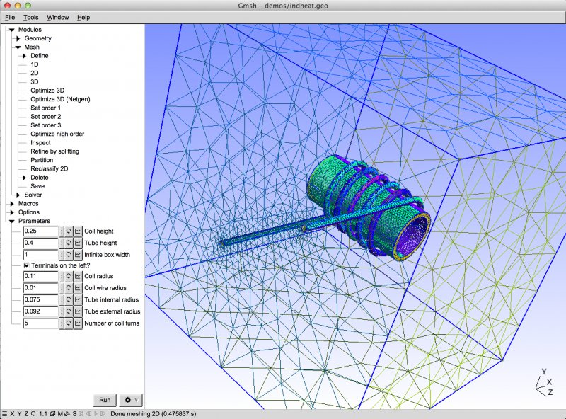 Character Generator Computer Aided Design : Gmsh software three dimensional finite element