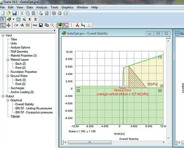 Greta - Stability Analysis For Gravity Retaining Walls Software