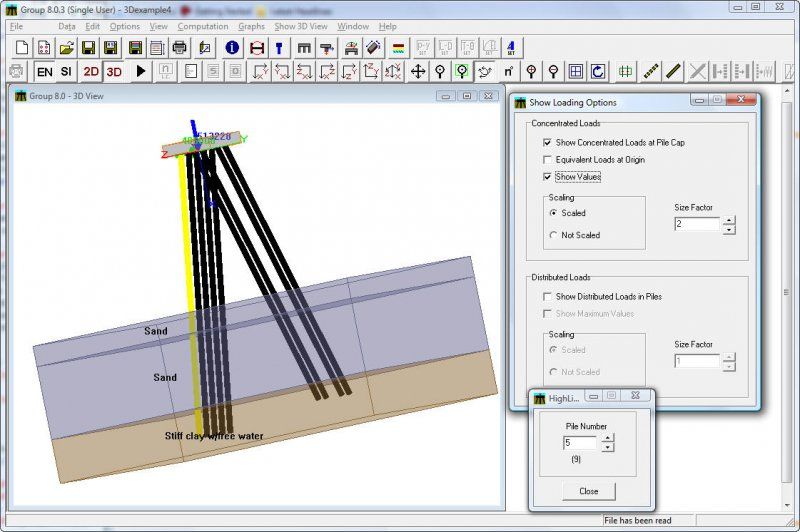 GROUP - Analysis of 3D Pile Groups Under Combined