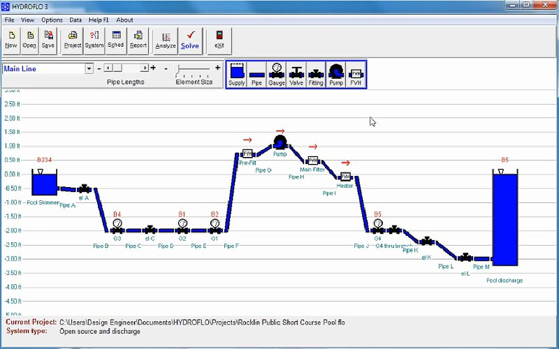 HYDROFLO Advanced Piping System Design Software