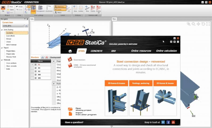 IDEA StatiCa - Structural Design and Code-Check of Joints