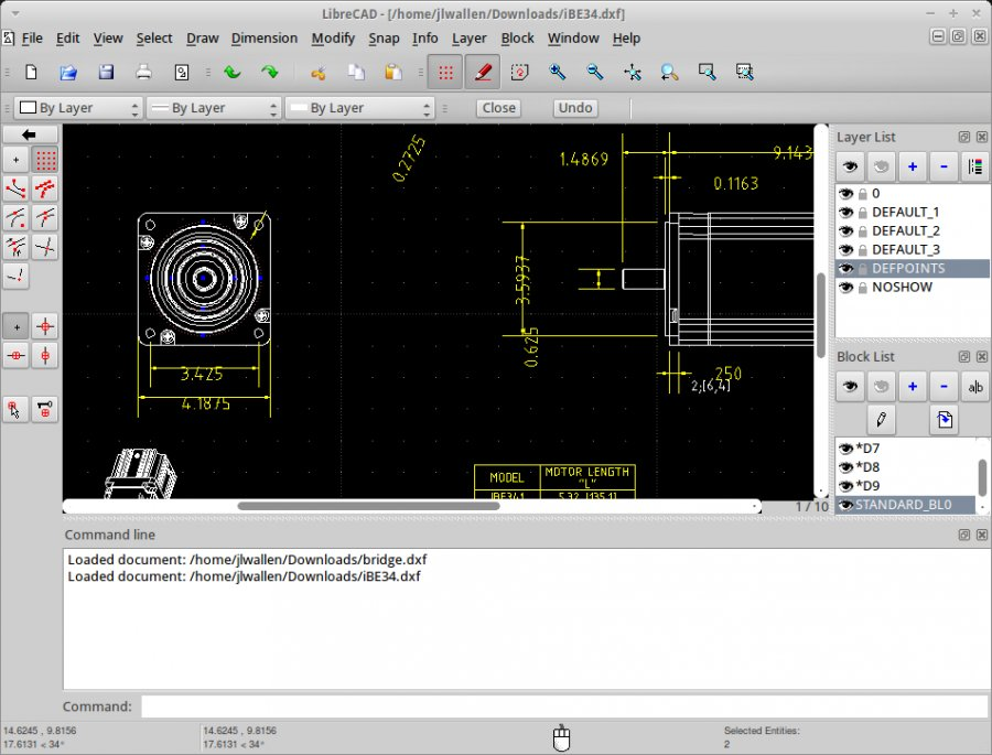Librecad Open Source Personal Cad Application Software