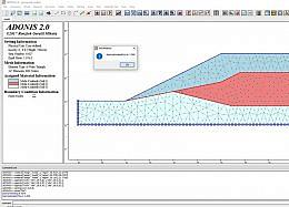 ADONIS - Two-Dimensional Geotechnical Finite Element Program