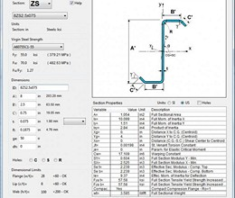 Cold-Formed Steel BeamDesign screenshot