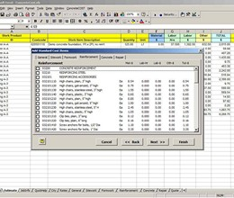 ConcreteCost Estimator for Excel screenshot