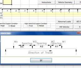 Line Beam Analysis for Moving Vehicle Loads screenshot