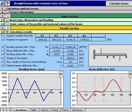 MITCalc Beam Calculation screenshot