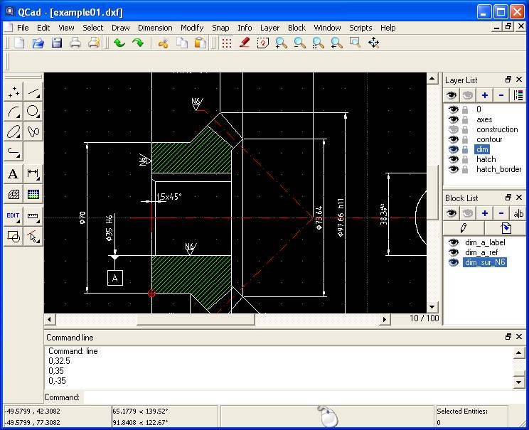 Qcad open source cad system software Cad system