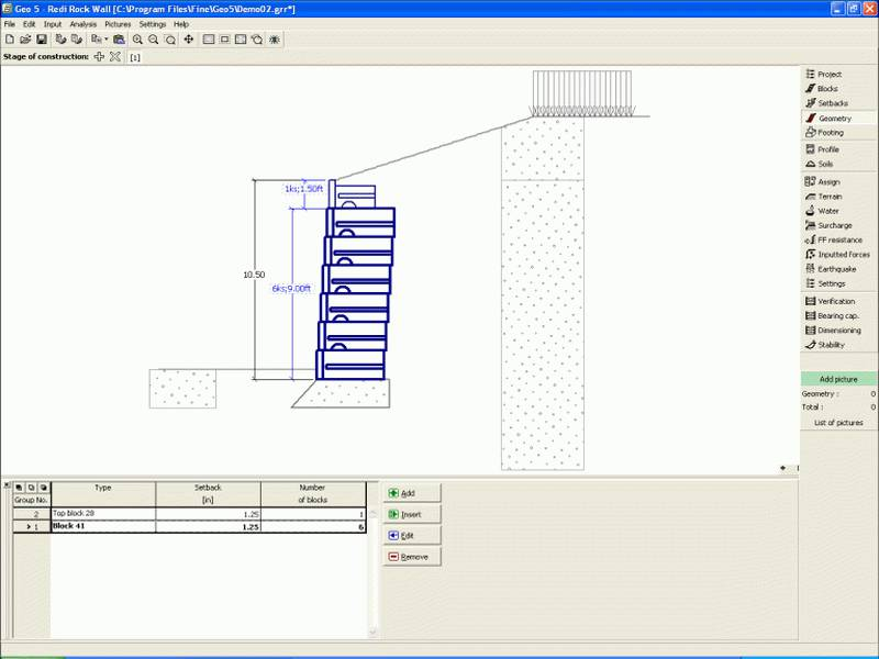 Redi Rock Wall - Retaining Wall Analysis Software