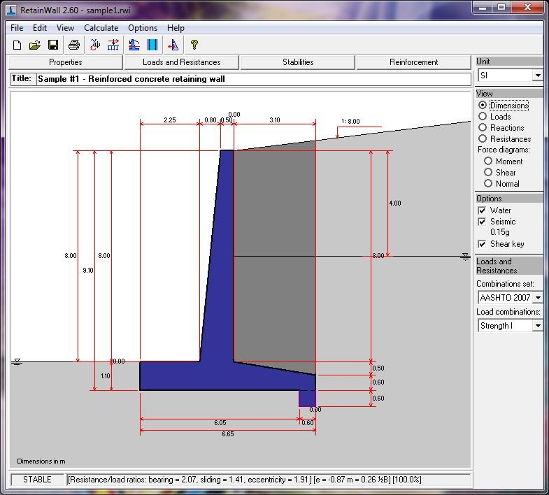 RetainWall Designing a Concrete or Masonry Retaining Wall Software