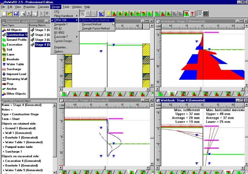 Reward Embedded Retaining Wall Design Software