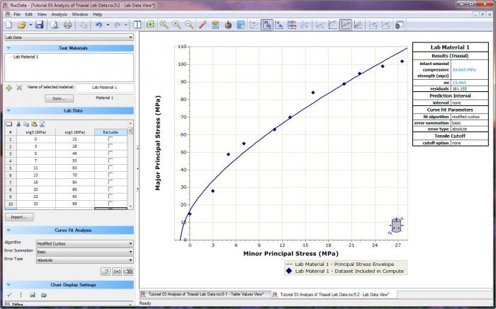 RocData - Rock, Soil and Discontinuity Strength Analysis Software