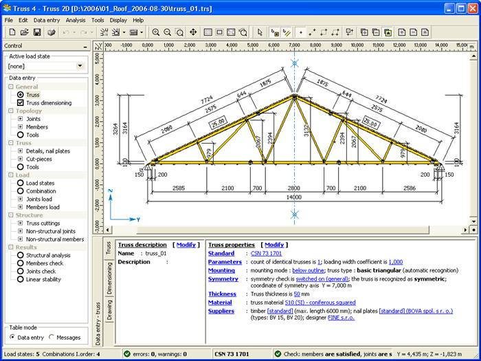 Roof Truss Design TRUSS4 screenshot