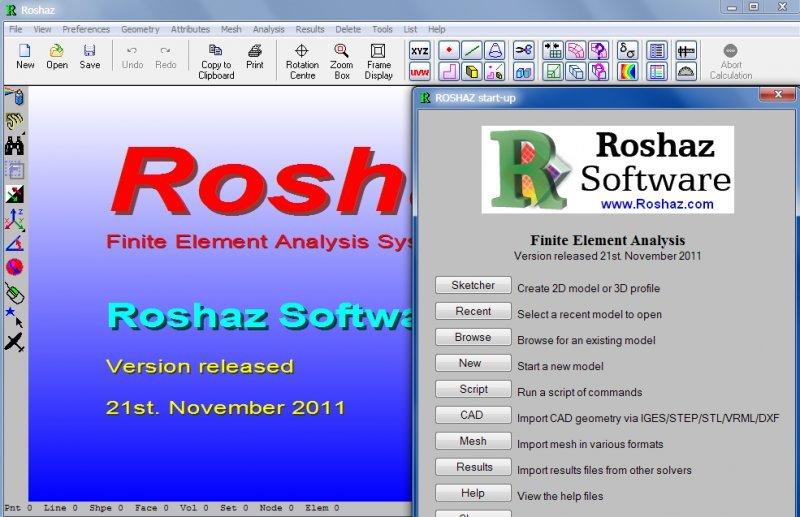 ROSHAZ - Finite Element Analysis Software