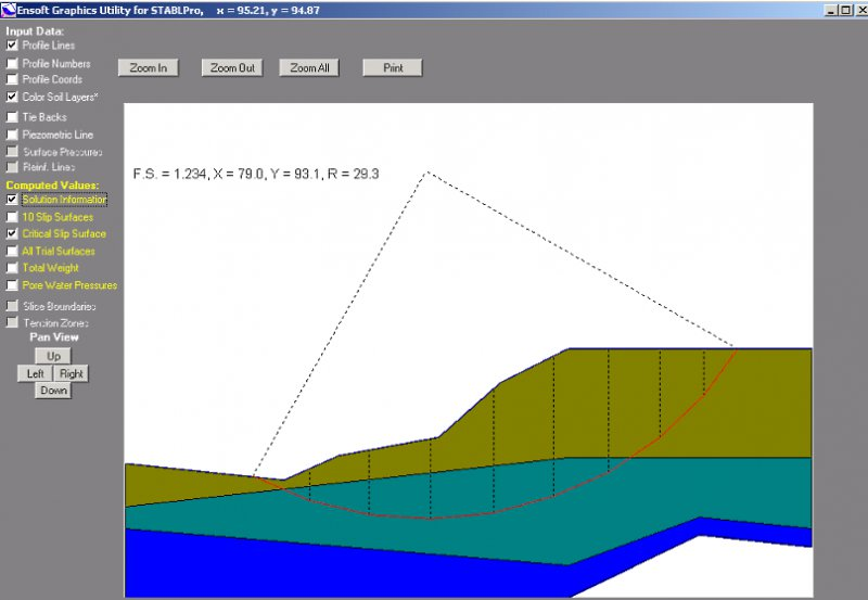 StablPro - Computations of Slope Stability Software